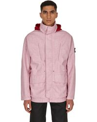 Stone Island Shadow Project Poly Wool Diagonal 3l Jacket - Pink