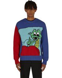 Off-White c/o Virgil Abloh - Snake Chuncky Crewneck Sweater - Lyst