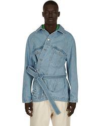 Martine Rose Fountain Denim Jacket Blue Denim S