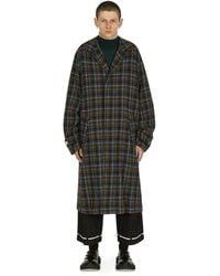 Undercover Plaid Wool Coat Grey L