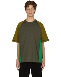 Cav Empt Panelled Heavy Big T-shirt - Green