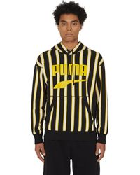 PUMA Downtown Graphic Hooded Sweatshirt Black-aop M