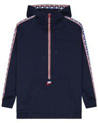 Nike - Taped Half Zip Hooded Poly Jacket - Lyst