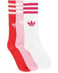 adidas Originals - Solid Crew 3 Pack Socks - Lyst