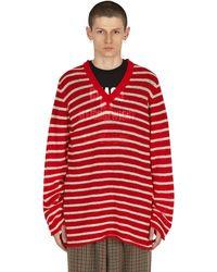 Undercover V-neck Jumper - Red