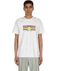 CASABLANCA Cotton Jersey Shorts White S