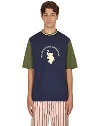 Wales Bonner College Graphic T-shirt - Blue