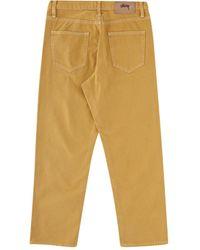 Stussy Overdyed Big Ol' Jeans - Yellow