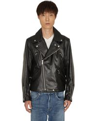 Undercover Leather Riders Jacket - Black