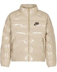 Nike Icon Clash Down Jacket - Natural
