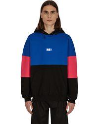 ADER error Silk Screen Hooded Sweatshirt - Blue