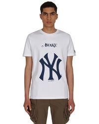 AWAKE NY New Era X Mlb Subway Series Dueling Logo T-shirt White M