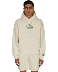 adidas Originals Stan Smith Hooded Sweatshirt Non-dyed S - Natural