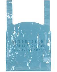 Maison Margiela Transparent Tote Bag - Blue