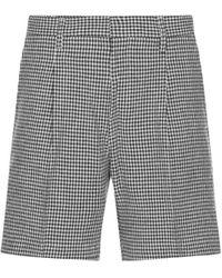 Wacko Maria Gingham Check Pleated Shorts Black M