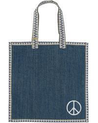 A.P.C. Rth Tote Bag Indigo Delave U - Blue