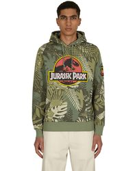 Reebok Jurassic Park Hooded Sweatshirt Vingrn S - Green