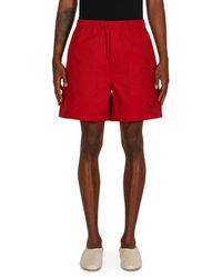 Bode Monarch Rugby Shorts Red S