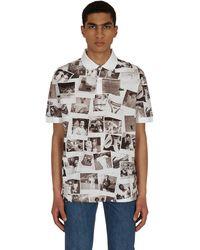 Lacoste L!ive Polaroid Classic Fit Polo Shirt White/black Xs