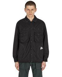 and wander Reversible Nylon Jacket - Black