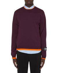 OAMC Contrast Crewneck Knit - Purple