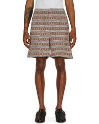 Bode Diamond Stripe Rugby Shorts - Multicolour