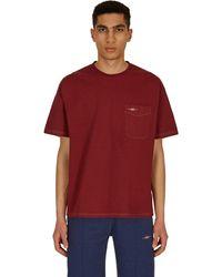 Phipps Pocket T-shirt Garment Dye Crimson S - Red