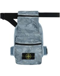 Stone Island Big Loom Camo Bag - Blue