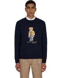 Polo Ralph Lauren Polo Bear Crewneck Sweatshirt - Blue