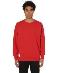 WTAPS Blank Crewneck Sweatshirt - Red
