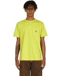 Carhartt WIP Pocket T-shirt Limeade S - Black