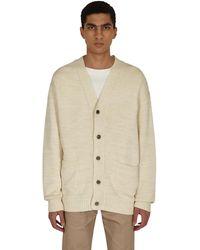 Kapital 5g Cotton Knit Smilie Patch Cardigan - Natural