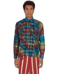 Needles 7 Cuts Tie Dye Flannel Shirt - Multicolor