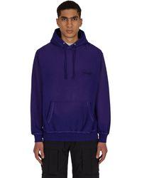 AWAKE NY Sunbleached Logo Hooded Sweatshirt Purple S