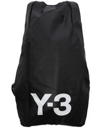 Lyst - Y-3 Mobility Leather   Nylon Backpack in Black for Men cd82f1629e4e4