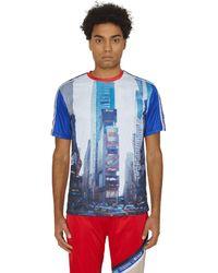 AWAKE NY Kappa Evander Jersey T-shirt White/royal Red S - Blue
