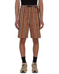 Kapital Hope Striped Easy Shorts Brown M