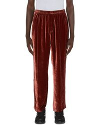 Our Legacy Sidestripe Track Pants - Red