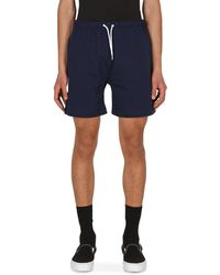 Noah Rugby Cloth Shorts - Blue
