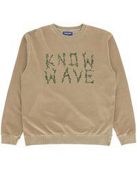 Know Wave Branches Crewneck Sweatshirt Natural L
