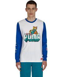 PUMA 2k Basketball Longsleeve T-shirt White S - Blue