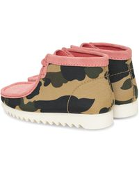 Clarks A Bathing Ape Wallabee Shoes - Pink