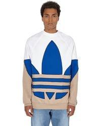 adidas Originals Big Trefoil Crewneck Sweatshirt - White