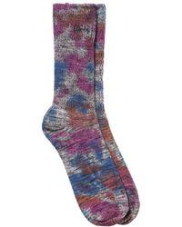 Stussy - Tie Dye Marl Socks - Lyst