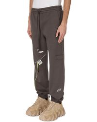 ADER error Oversized Piping Joggers - Grey
