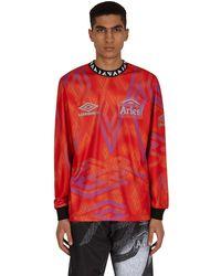 Aries Umbro Football Longsleeve Jersey - Red