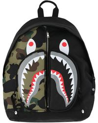 A Bathing Ape 1st Camo Shark Daypack - Black