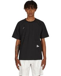 and wander Uv Strech Rip Pullover T-shirt - Black