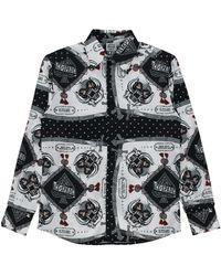 SSS World Corp Motorhead Foulard Silk Shirt - Black
