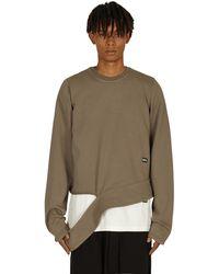Rick Owens DRKSHDW Long Creatch Crewneck Sweatshirt Dust S - Multicolour